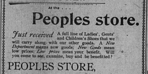 At the same time, this ad for Lasdusky's store ran from the end of August into the first week of September.