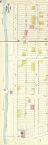 The 1896 Sanborn map shows how few people actually lived in this part of the town at the time.
