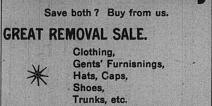 This ad for I.S. Grossman's removal sale ran on January 20.