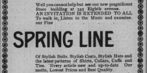 This I.S. Grossman ad ran the last week of February.