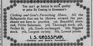 Grossman ad for the last week of February.