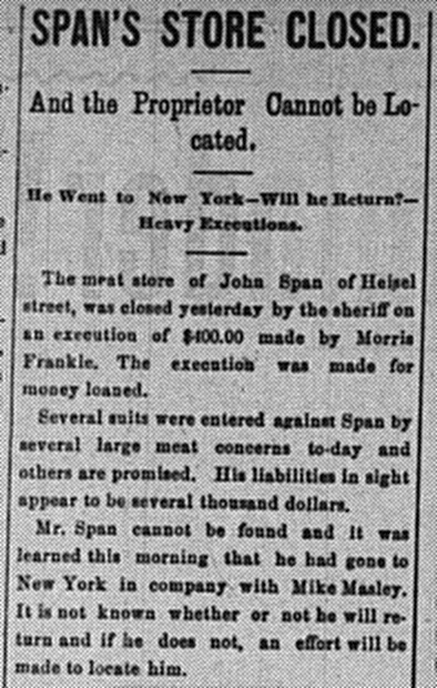 August 18: Uh oh, it appears Morris Frankel lent money to a guy who skipped town