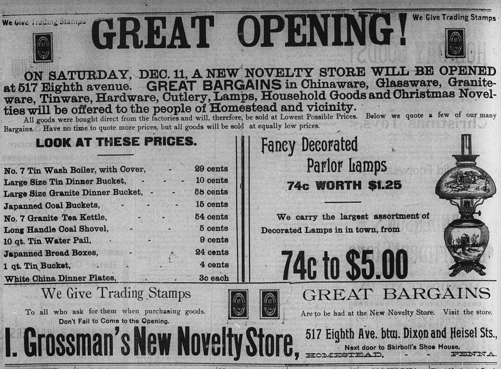 18971209 i grossman new store giant ad
