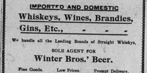 5/8/1901:  Ad new for liquor wholesaler Israel Rosenbloom!