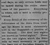 4/21/1902:  Passover starts tonight