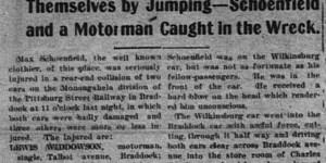 1/26/1903:  Homestead Man In Wreck