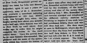 3/24/1903:  Two Boys Ran Away from Home