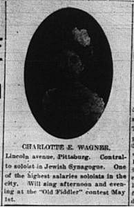 4/23/1903: Charlotte E. Wagner