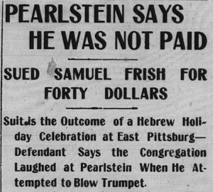 10/16/1903 High Holy Lawsuit!