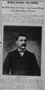 12/28/1904: Morris Frankel for council