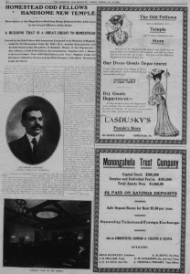 5/14/1906: Joseph Lasdusky featured prominently in an article about the dedication of the Odd Fellows' temple. (Click to enlarge.)