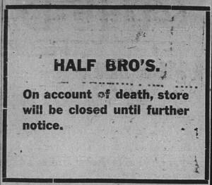 3/9: Half Bros. ad