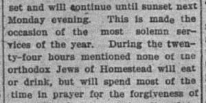 10/3:  Yom Kippur