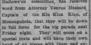 10/26: Klu Klux Klan Coming