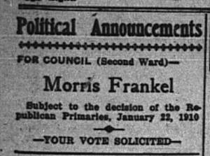 1/10: Morris Frankel political ad