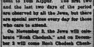 10/1:  Rosh Hashana next week, second part