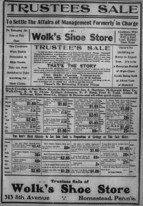 2/22: Wolk's Trustee Sale