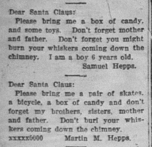 12/19: Letters to Santa by two of my great-uncles?!