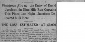 12/22:  Twenty-Three Cows, Five Horses, and Poultry Perish in Jacobson Dairy Fire