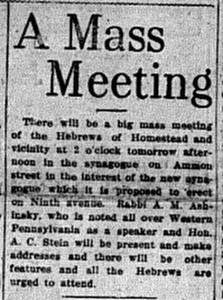 5/31/1913: A Mass Meeting