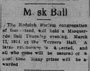 3/4/1914: Mask Ball