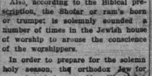 9/10:  Jewish New Year