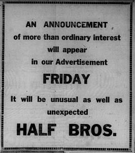 5/1: Amusing Half Bros. ad