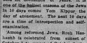 10/2:  Jewish New Year