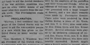 1/21/1916:  Jewish People Act on Proclamation