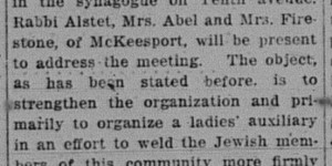 2/19/1916:  Open Meeting for Jewish Residents