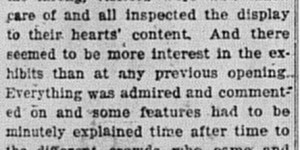 3/24/1916 :  Opening Drew a Throng