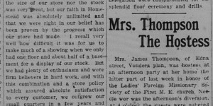6/12/1916:  A Furniture Firms' (sic) Annual Celebration