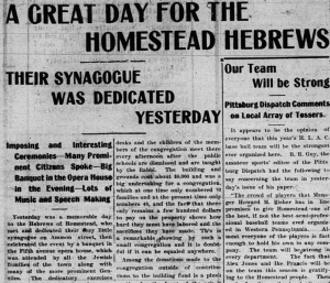 Giant front page article in The News-Messenger on 3/31/1902!