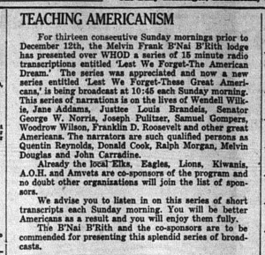 12/14/1948: Teaching Americanism