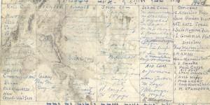 1940 board meeting agenda card
