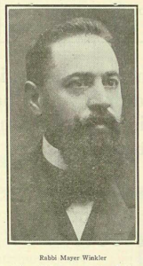 Rabbi Mayer Winkler, 1922