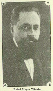 Rabbi Mayer Winkler, 1924