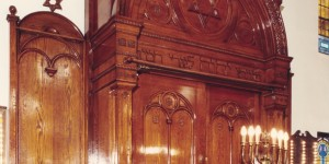 It is believed that the aron kodesh was made in Europe.