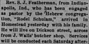 The Homestead News, 6/1/1894, p. 1