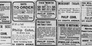 These ads for Philip Cohn ran throughout the year, starting on 5/2.