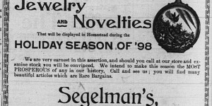 Segelman's first holiday ad appeared on 11/26.
