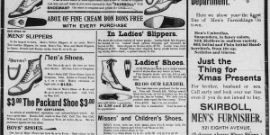 Skirboll's Shoe House saved their Xmas ad for 12/20-12/22.