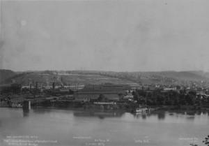 Scene of the Homestead Strike, 1892 (source:  Heinz History Center, Homestead Exhibit Photographs)