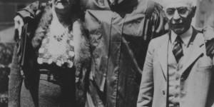 Allen Grinberg and parents at graduation (source:  Allen Grinberg via the Homestead Exhibit Photographs)