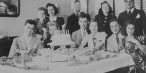 Allen Grinberg's 21st birthday, 1938 (source:  Allen Grinberg via the Homestead Exhibit Photographs)