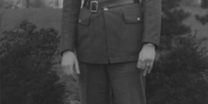 Allen Grinberg in military uniform (source:  Allen Grinberg via the Homestead Exhibit Photographs)