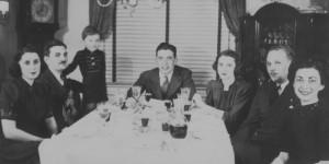 First Seder -- Allen Grinberg's Family, 1939 (source:  Allen Grinberg via the Homestead Exhibit Photographs)