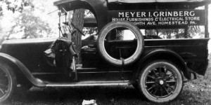 Truck Advertising Meyer Grinberg's Store, 1925 (source:  Allen Grinberg via the Homestead Exhibit Photographs)