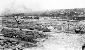 Lower Homestead after Property Demolition, June 15, 1942 (source: Archives of Industrial Society, University of Pittsburgh via the Homestead Exhibit Photographs)