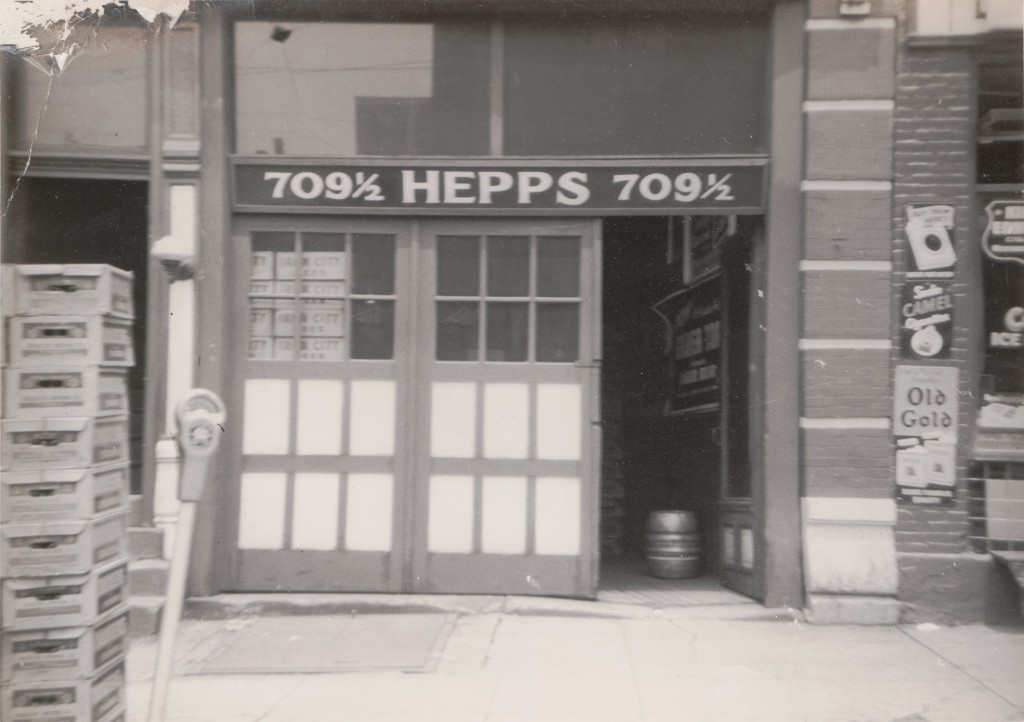 Jacob Hepps' beer distributorship at 709 1/2 E. 8th Ave in Homestead (date unknown)
